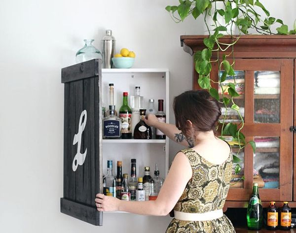 Small Space Hack: 10 Ways to Fit a Home Bar Anywhere