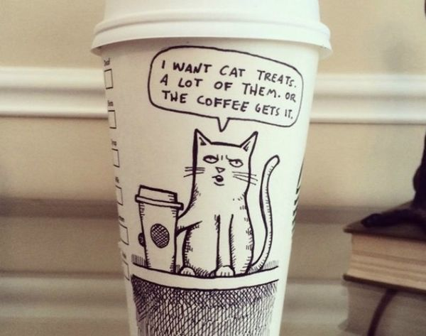 These Coffee Cup Comics Are Guaranteed to Make You Smile