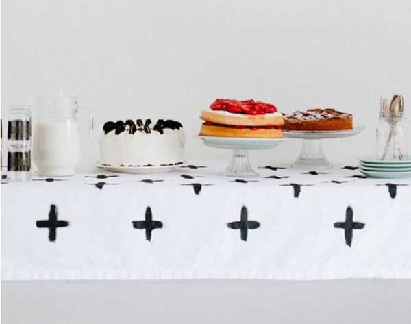 13 DIY Tablecloths for Your Holiday Dinner Party