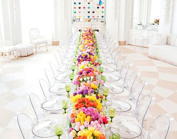 13 Show-Stopping Long Reception Tables for Your Big Day
