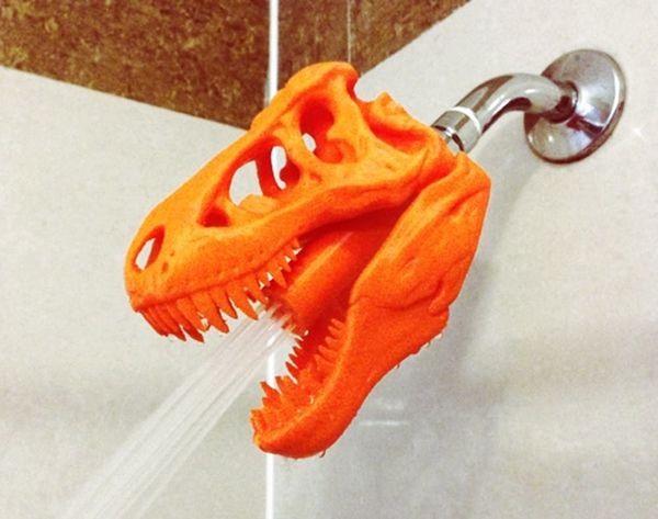 Get Your Shower Some (3D Printed!) T-Rex Power