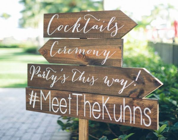 17 Stylish Ways to Share Your Wedding Hashtag