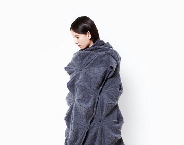 This Origami-Inspired Blanket Is a Geometric Work of Art