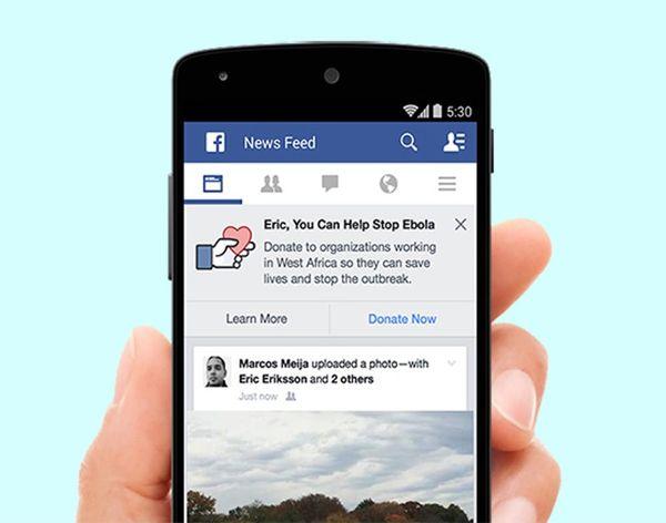Facebook Kicks Off 3 Ebola Relief Initiatives