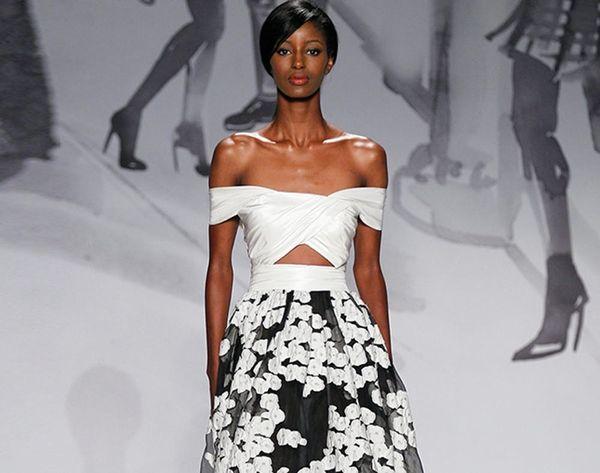 12 Black + White Wedding Dresses for the Adventurous Bride