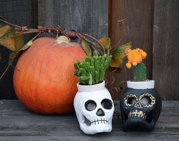 DIY Basics: 5-Step Dia de los Muertos Planters