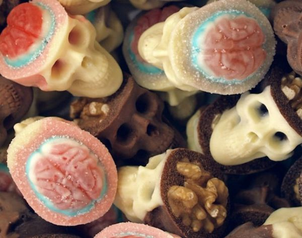 Eat These Delicious Candy Braiiiinns at Your Zombie Dance Party