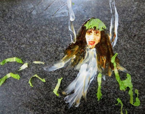 Made Us Look: Yogurt Ghost Art. Yup, Yogurt Ghost Art.