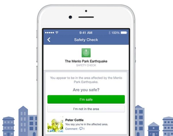 Facebook Can Now Tell Friends + Fam if You're Okay in a Natural Disaster