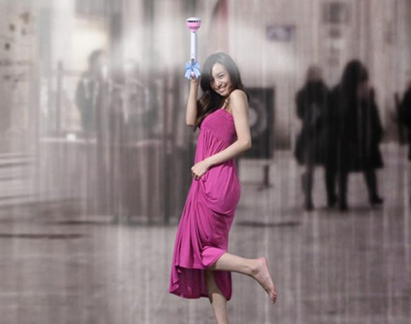 You'll Never Believe How This Invisible Umbrella Keeps Rain Away
