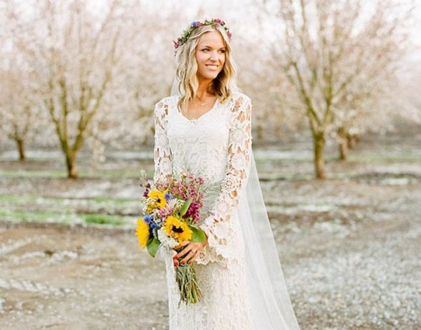 15 Wedding Dresses You Won't Believe Are Crocheted