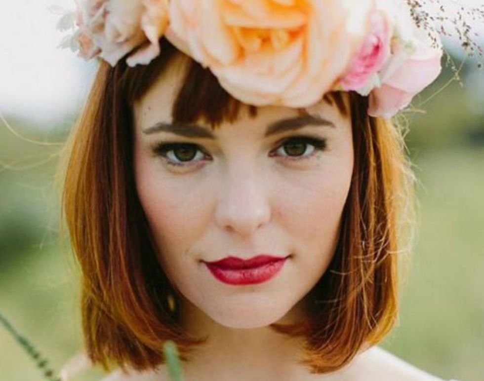 25 Wedding Hairstyles For Short Hair Brit Co