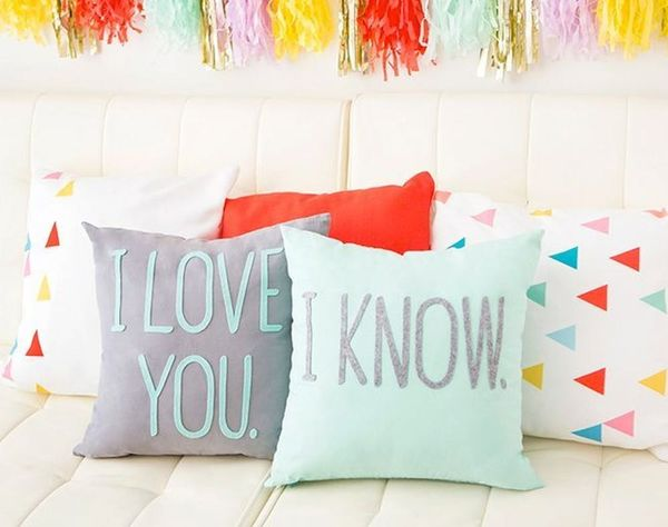 Pillow Talk, Anyone? 6 Typographical Pillows That Say It All