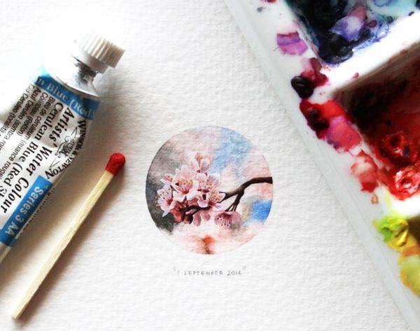 Whoa! This Artist Makes One Teeny Tiny Painting Everyday