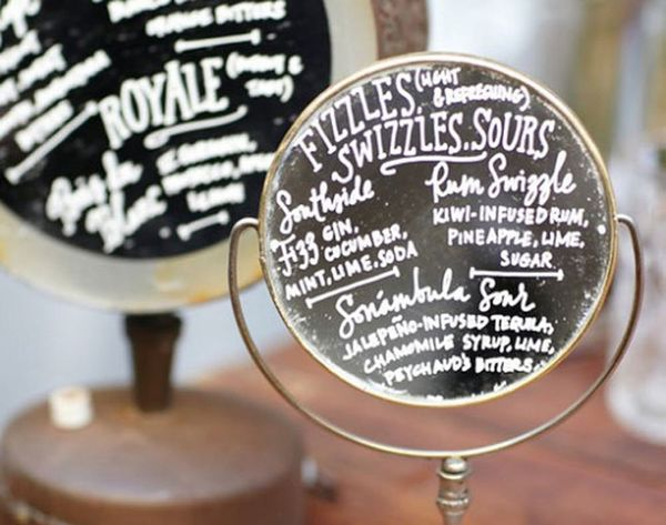 12 DIY Menu Boards for Your Wedding