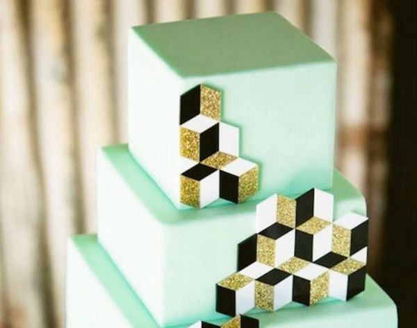 21 Gorgeous Geometric Cakes for Your Modern Wedding