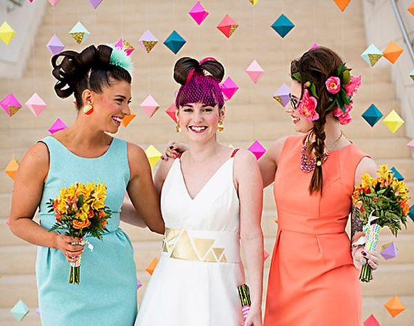 21 Bright and Bold Neon Wedding Decor Ideas