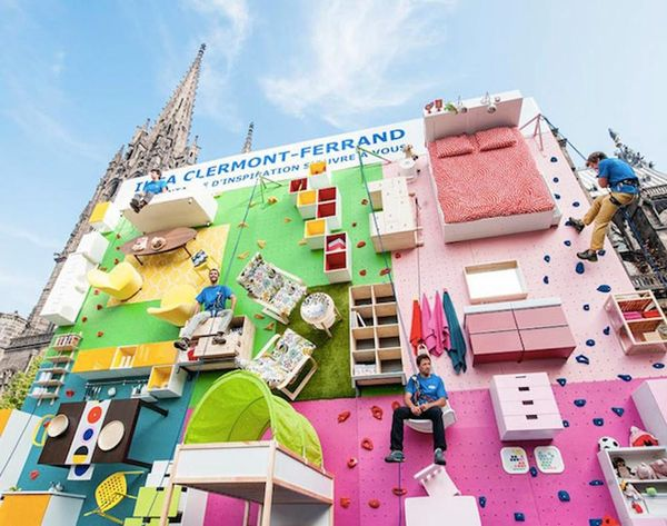 This Vertical IKEA Apartment Doubles as a Climbing Wall