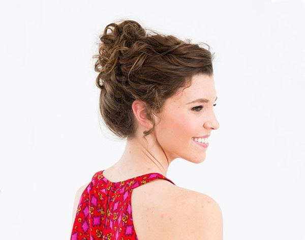 18 Updos for Curly-Haired Girls