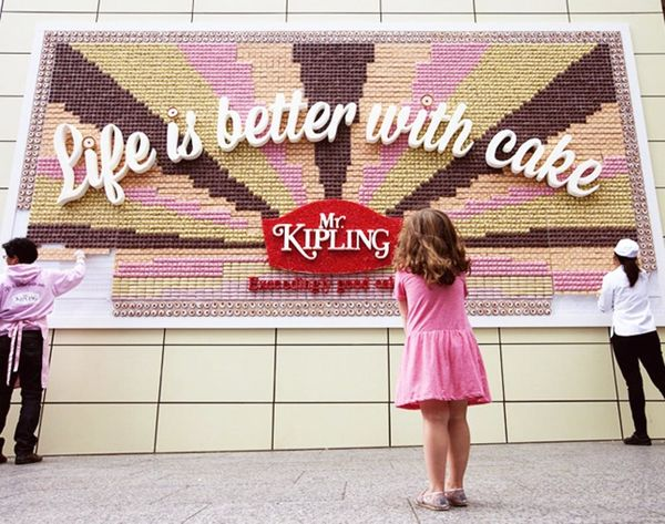 Would You Take a Bite Outta This Billboard Made of… CAKE?!