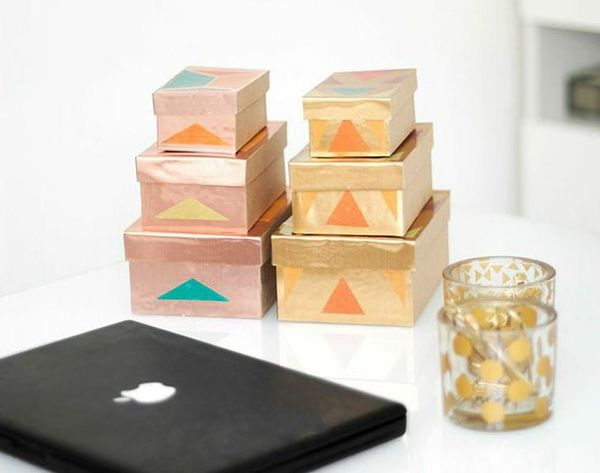 Get Organized With These 2-Material Metallic DIY Storage Boxes!