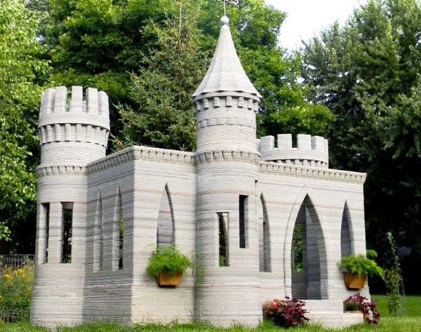 You Guys, Someone Printed a 3D CASTLE!