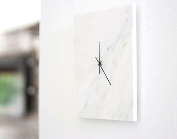 How to DIY a Chic Marble Wall Clock for Just $10