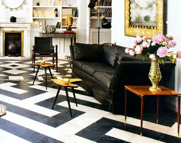 21 Black and White Floors You'll Love