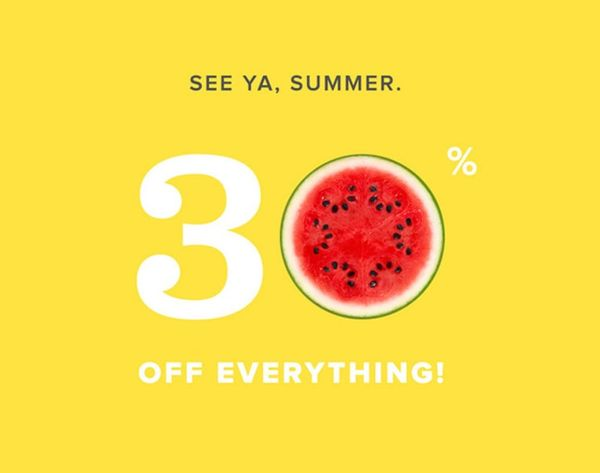 Last Call: $1 Shipping AND 30% Off in the B+C Shop!