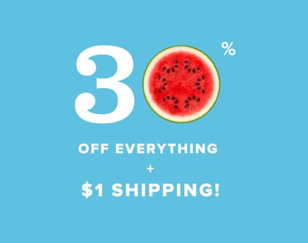 Extra, Extra! $1 Shipping AND 30% Off in the B+C Shop!