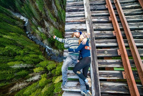Don't Try This at Home: 13 Dangerous Engagement Pics