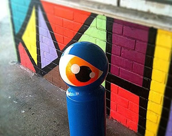 How One Street Artist Is Turning Signs into Cyclops