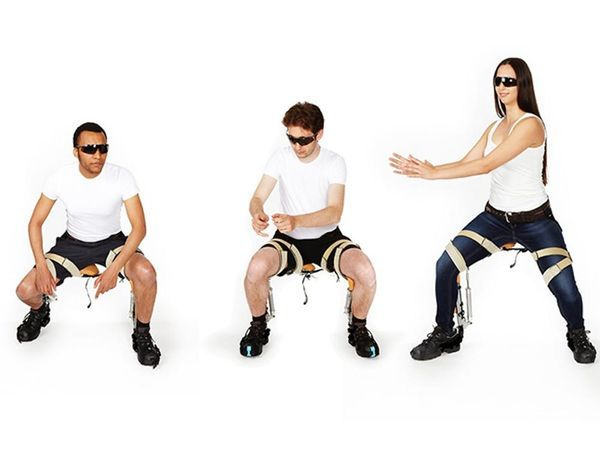 Take a Load Off Anywhere With The Chairless Chair