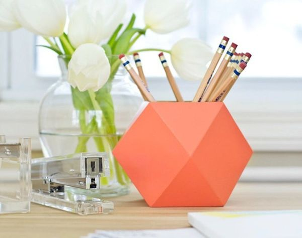 Dress Your Desk With These 15 DIY Pencil Cups