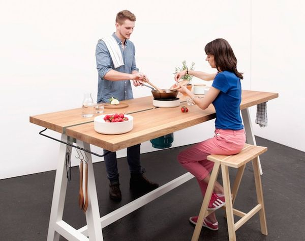 Um, WHAT? This Table Can Cook You Dinner