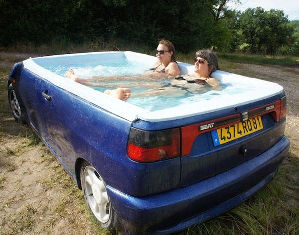 Nothin' to See Here, Just a Casual Hot Tub Car