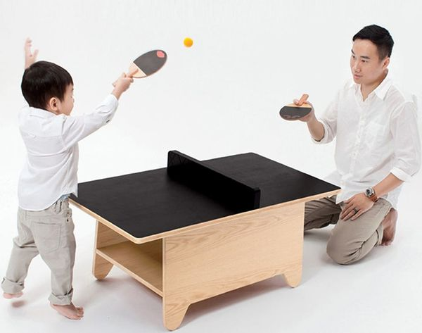 Our New Fave 2-in-1: The Ping Pong Coffee Table
