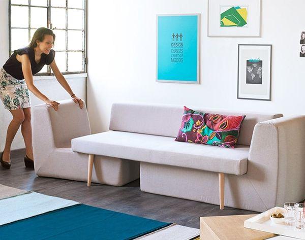Small Space Hacks: This Modern Sofa Splits Into Three