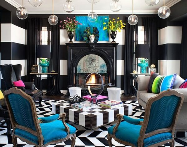 Seeing Things in Black And White: Tour Kourtney Kardashian's Home