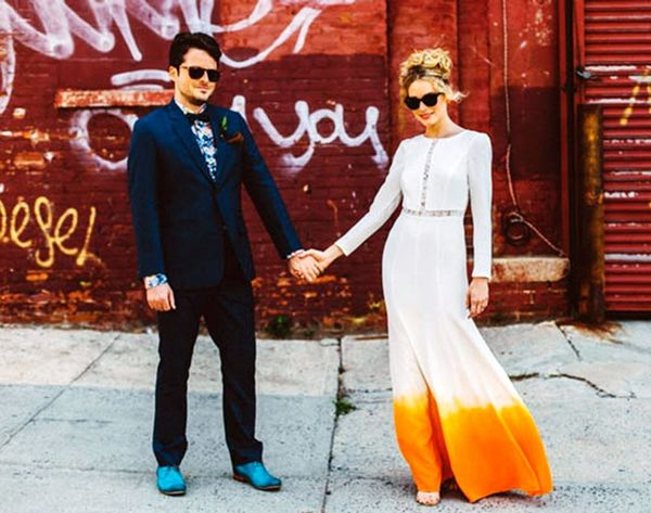 18 Colorful Wedding Dresses for the Non-Traditional Bride