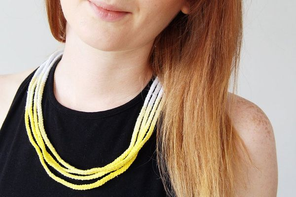 How to Make an Ombre Wrap Rope Necklace
