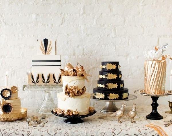 Let Them Eat… Gold? 20 Gorgeous Metallic Cakes