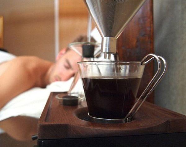 Sound the Alarm: This Clock Makes Coffee