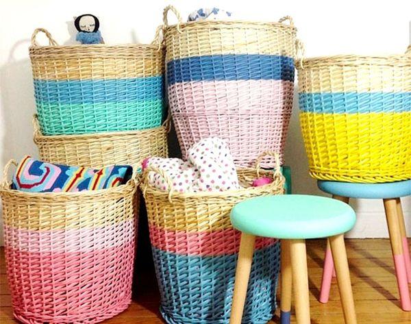 11 DIY Ways to Update Storage Baskets