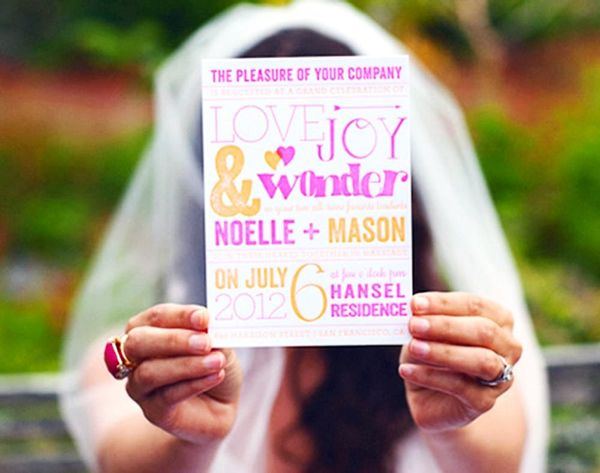Go Bold With These 13 Neon Wedding Invitations