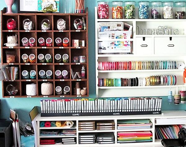 15 Creative Crafty Spaces We're Jealous of