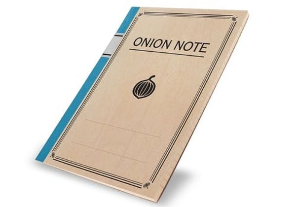 This Notebook Made of Onions Will Bring a Tear to Your Eye
