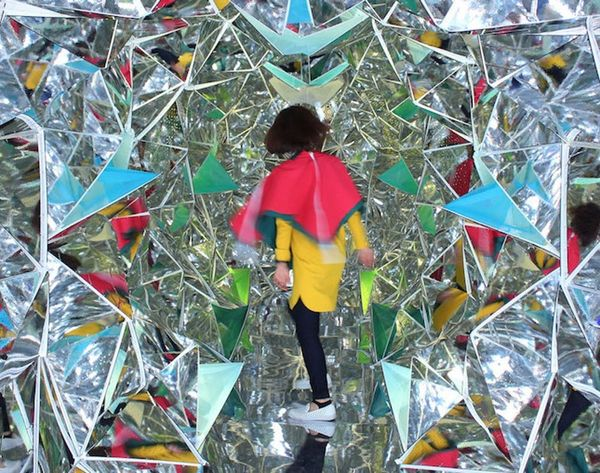 Check Out This Life-Size Kaleidoscope You Can Walk Into!