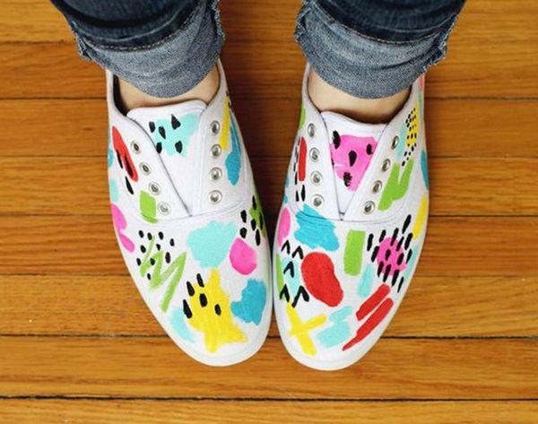 24 Playful Pairs of DIY Sneakers to Make ASAP