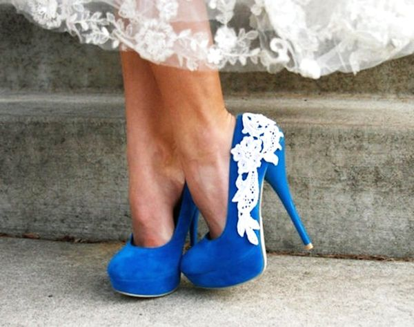 "17 Chic Pairs of ""Something Blue"" Wedding Shoes"